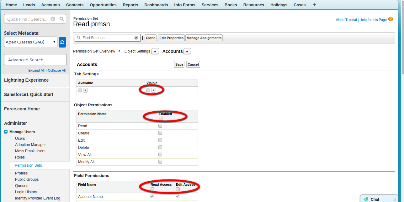 Salesforce extension to check all the checkboxes on the Admin page