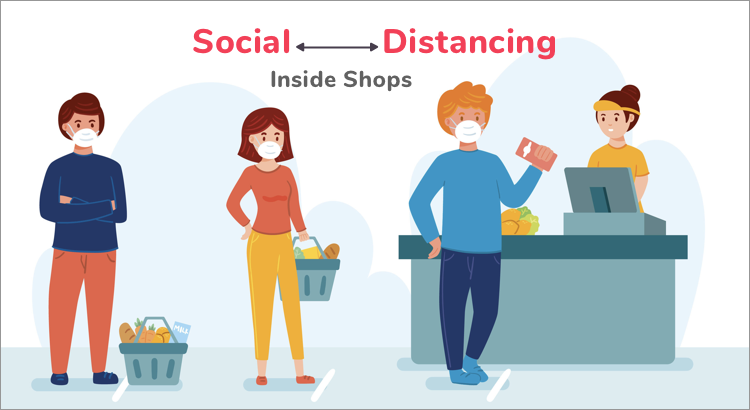 Enforcing Social Distancing in Shops Using YOLO and OpenCV