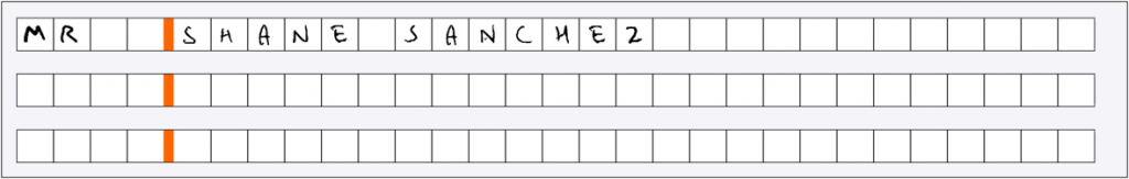 Subsections in KYC form are cropped prior to handwriting extraction