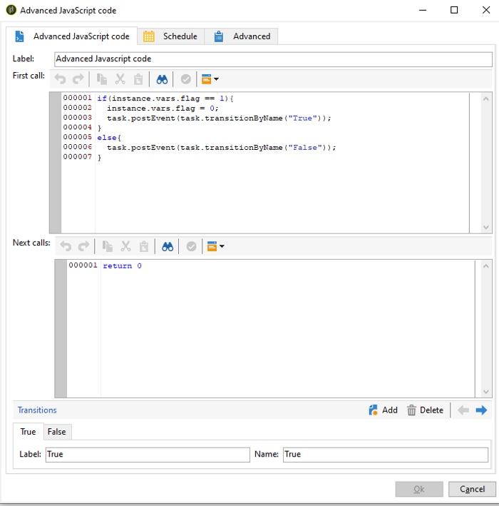 Advanced javascript code activity in Adobe Campaign