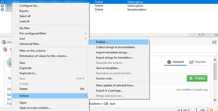 Tip to unpublish web applications in Adobe Campaign