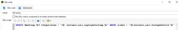 SQL script to set list expiry in Adobe Campaign