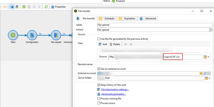Adobe Campaign File transfer activity